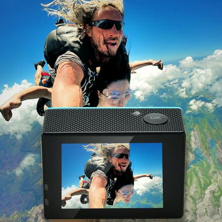 AGPtek Sports Action Camera Ultra HD 4K Waterproof DV Camcorder 12MP 170 Degree Wide Angle Diving Camera - image 3 of 7