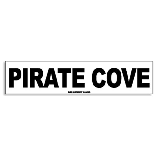 Seaweed Surf Co AA61 4X18 Aluminum Sign Pirate Cove