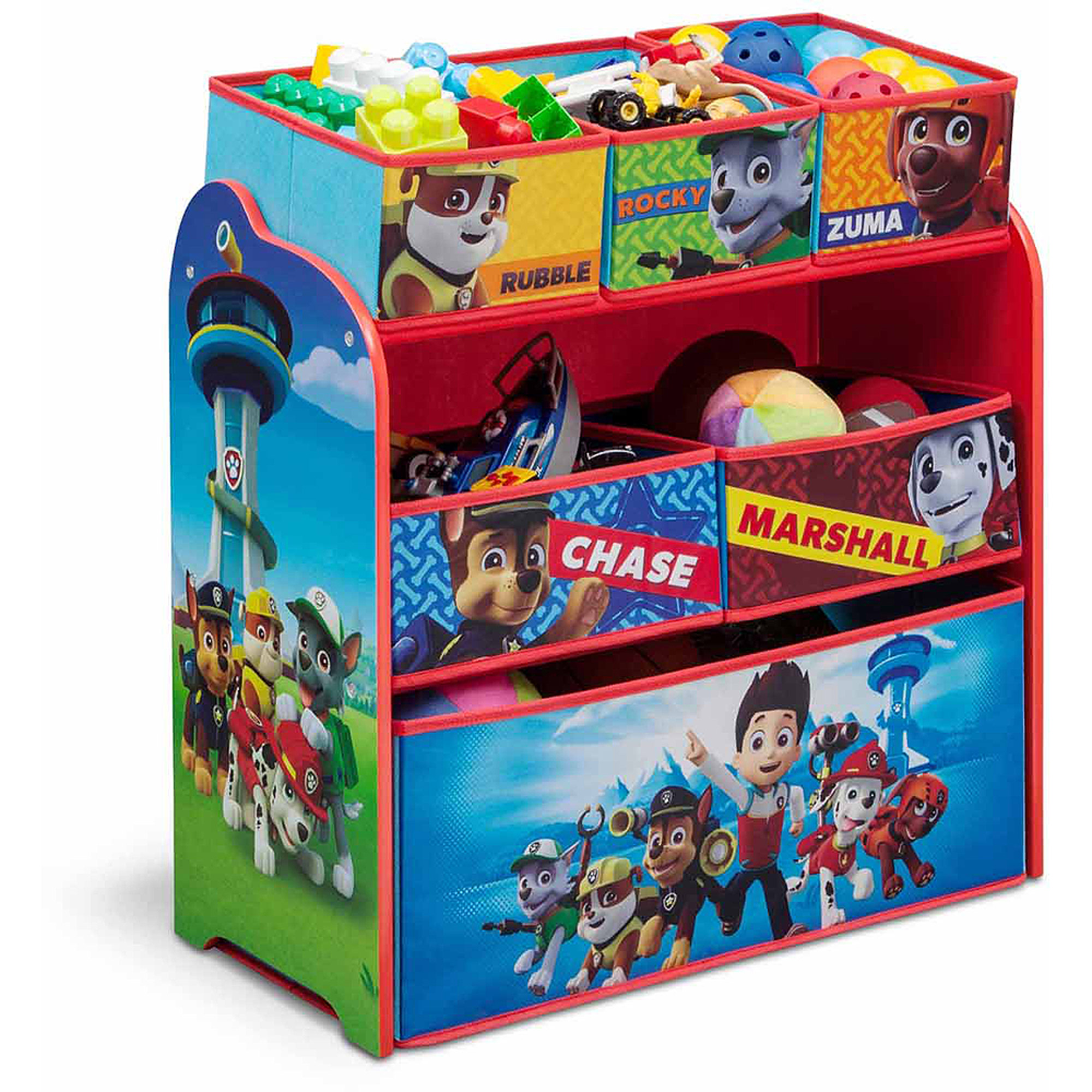 Delta Children Nick Jr PAW Patrol Multi-Bin Organizer