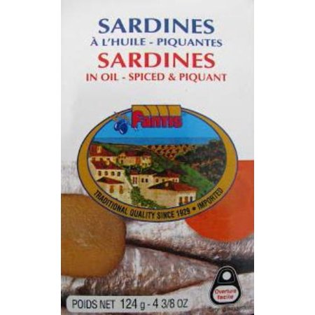 Sardines in Oil Spiced and Piquant (Fantis) 125g