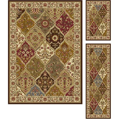 alise rugs alise multi collection 3piece set of area rugs 1u00278x2