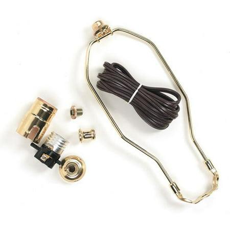 Lamp Kit - 3 Way - Brown Cord - 10 inch