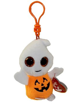 e64aebb65566f Product Image TY Halloweenie Beanie Baby - PUMPKIE the Ghost Pumpkin (key  clip - 4 inch)