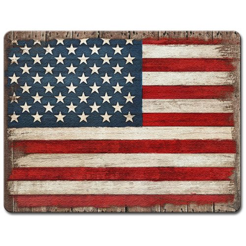 Highland Home Painted American Flag Glass Cutting Board
