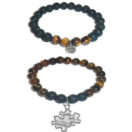 Autisms Hidden Gifts >> Hidden Hollow Beads Autism Awareness Women S Tiger Eye