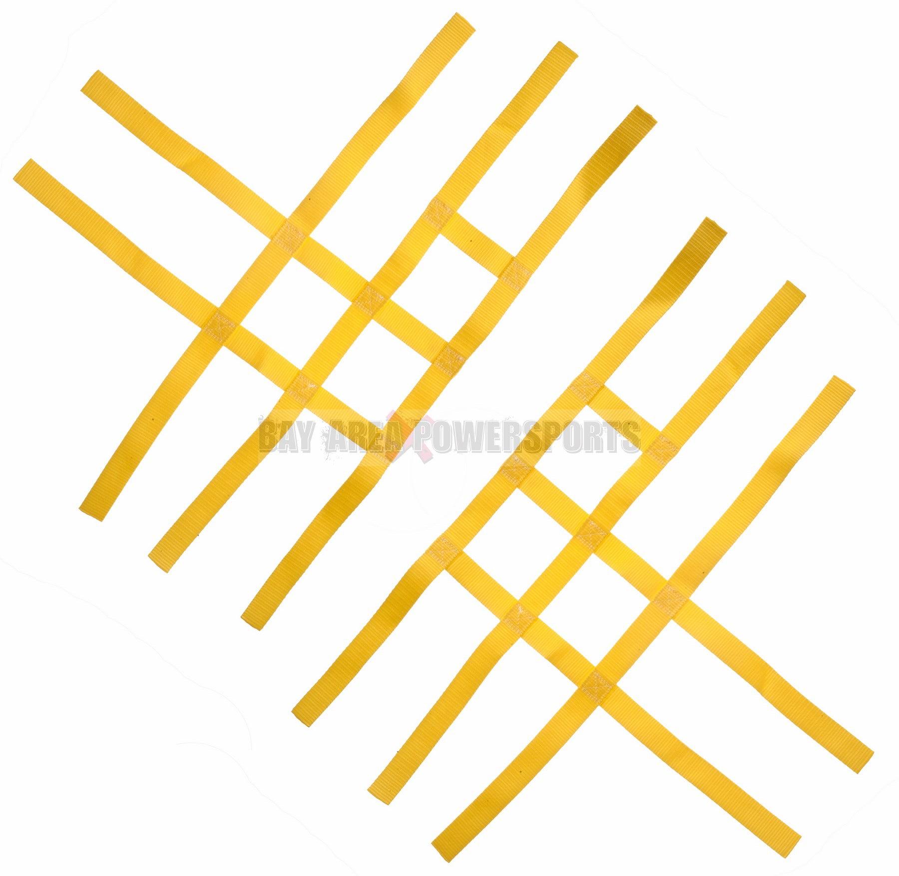 Nerf Bar Nets for Tusk Alba 757 Titan Fits Honda Yamaha Suzuki Kawasaki Yellow