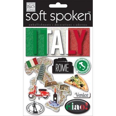 Soft Spoken Themed Embellishments-Authentic Italy - image 1 de 1