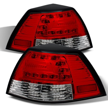 4dr Red Clear Led - Fits 08-09 Ponitac G8 Gt Gxp 4Dr Sedan LED Red Clear Tail Brake Lights Lamp Pair