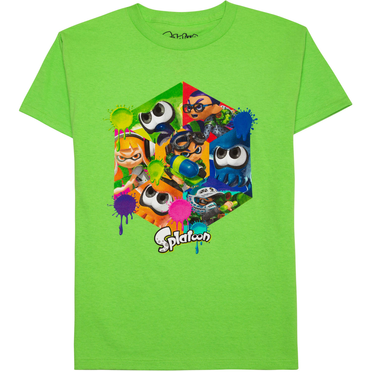 Splatoon Boys' Nintendo Splat Squad Short Sleeve Graphic T-Shirt