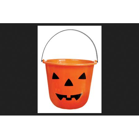 Good Halloween Titles (Good Old Values Pumpkin Bucket Halloween Decoration Orange 9 in. W x 7 in.)