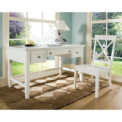Steve Silver Oslo Writing Desk With Optional Chair White