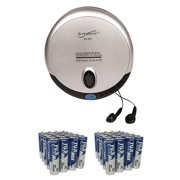 Supersonic SC-251 Portable CD Player with 50 Pack of AA Batteries