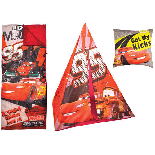 Disney Cars Teepee Play Tent and Slumber Bag with Bonus Pillow  sc 1 st  Walmart & Disney Cars Teepee Play Tent and Slumber Bag with Bonus Pillow ...
