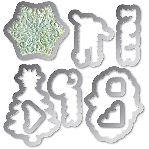 Sizzix Framelits Die And Embossing Folder Christmas Collage Frames Set