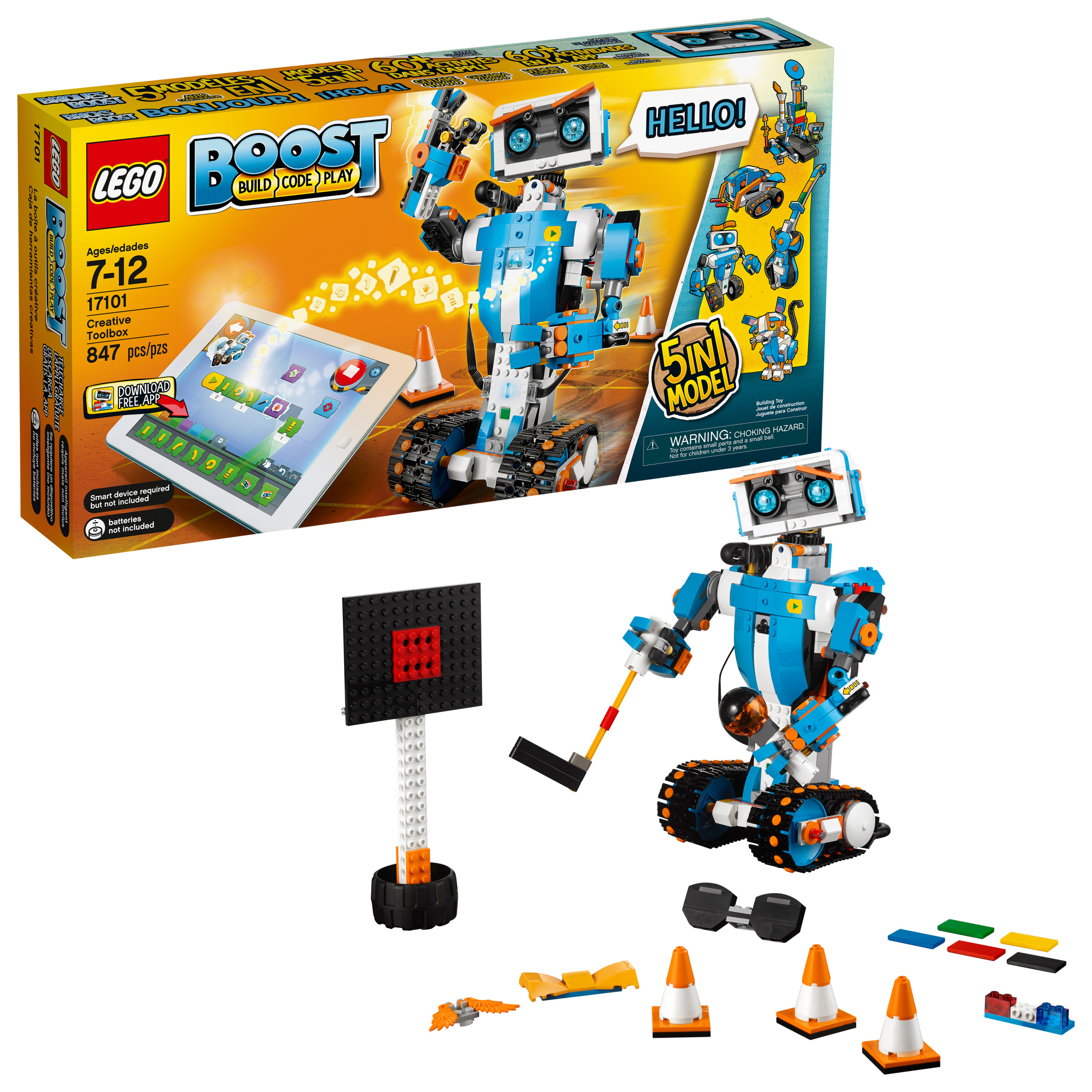 Lego Boost Creative Toolbox 17101 Fun Robot Building Set and Educational Coding Kit for Kids, Award-Winning... by LEGO System Inc