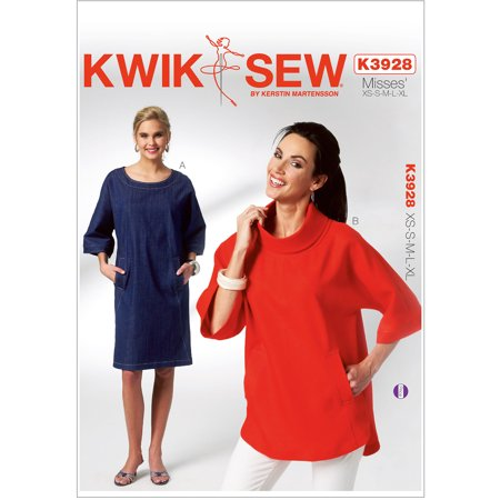 Kwik Sew Pattern Misses Dolman Sleeve Dress And Top Xs S M L