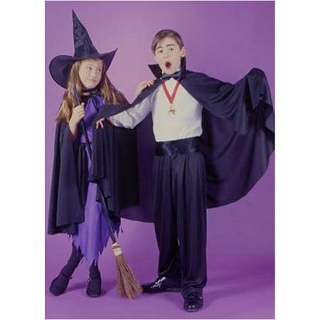 Black Fabric Cape Halloween Accessory