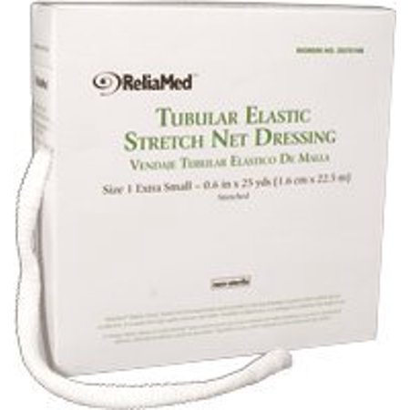 ReliaMed Non-Sterile Latex Tubular Elastic Stretch Net Dressing Large 8'' - 10'' x 25 yds, 1 Count Latex Wrist Seals