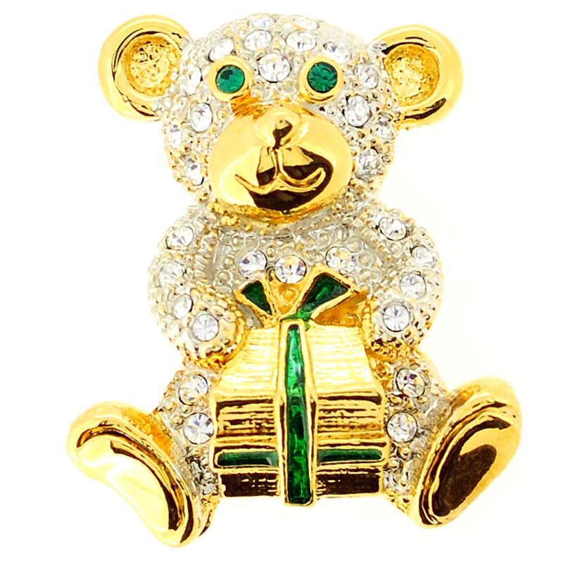 Fantasyard Bear with Gift Pin Brooch by Overstock