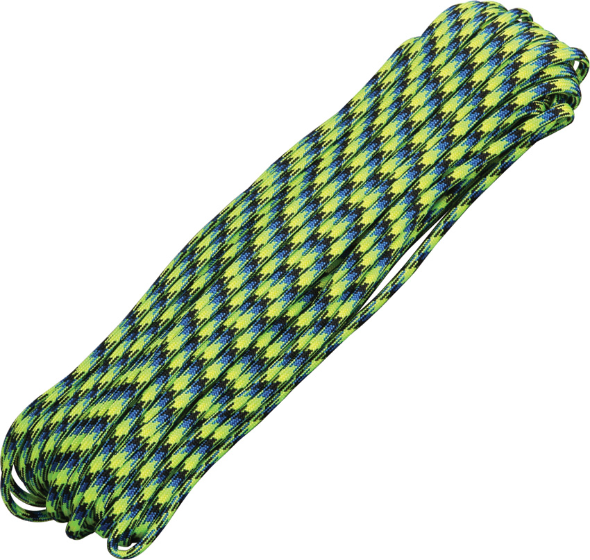 Parachute Cords RG011H Parachute Cord Aquatica Aquatica (blue, lime green, yellow, black) 100ft. Parachute Cord