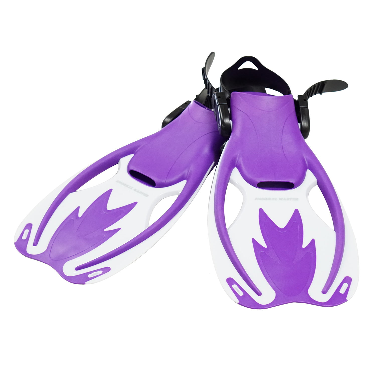 Snorkel Master Kids Purple White Swimming Snorkeling Fins, L XL by Scuba Choice