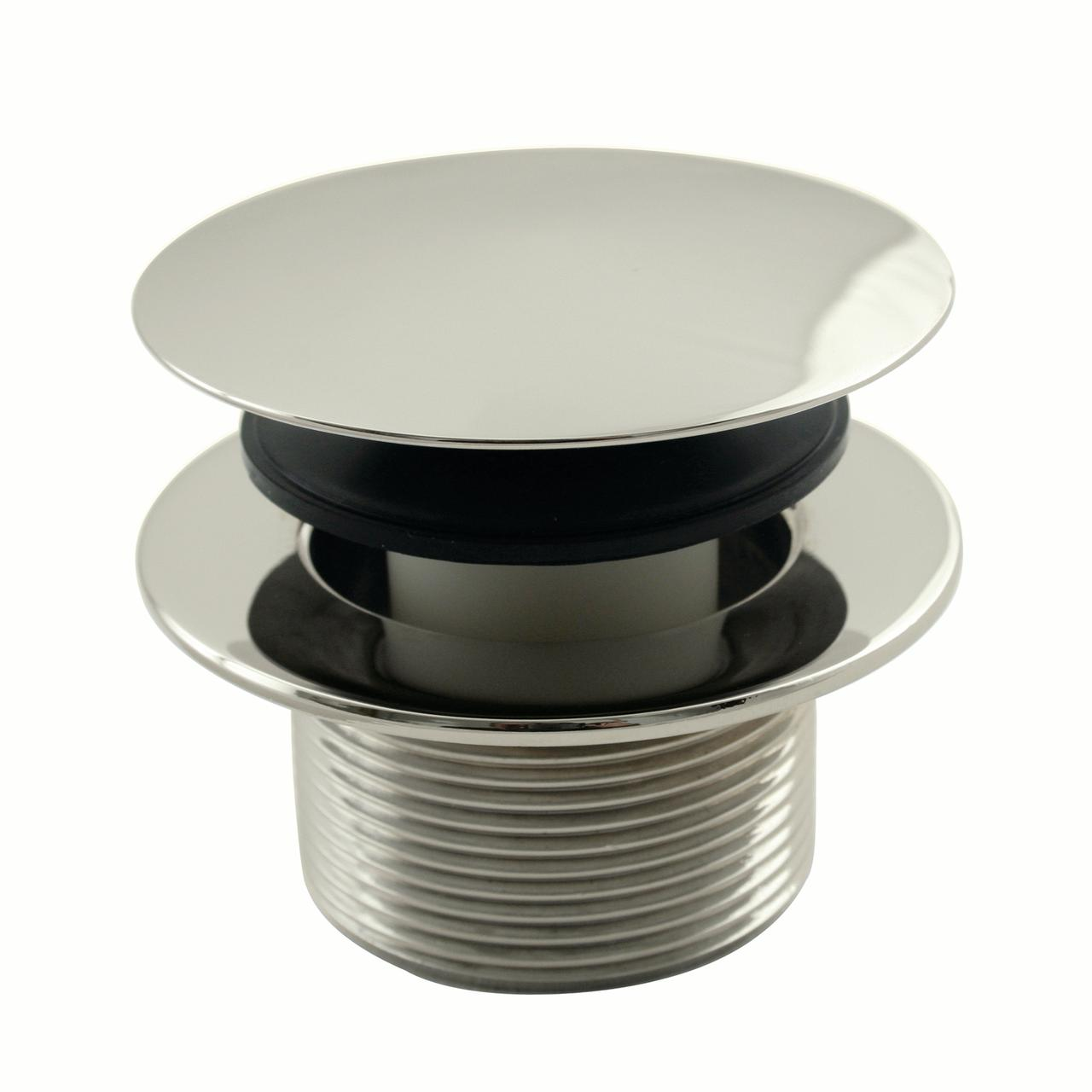 Westbrass Mushroom Tip Toe 1-1/2 in. NPSM Coarse Thread Bath Drain D398R in Polished Nickel