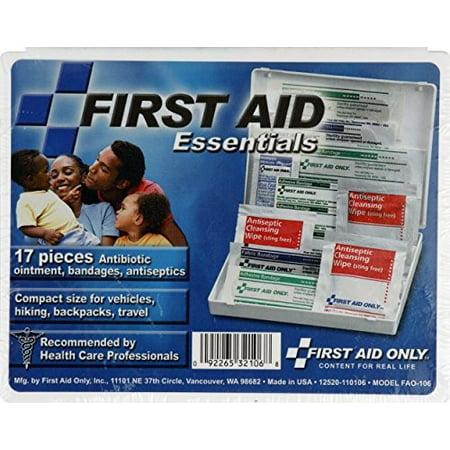 - First Aid Essentials 17 Piece First Aid Kit