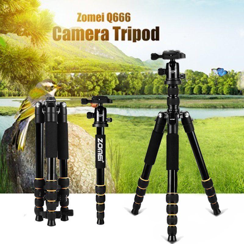 2019 Zomei Q666 Portable Lightweight DSLR Camera Camcorder Tri p o d Ball Head Stand