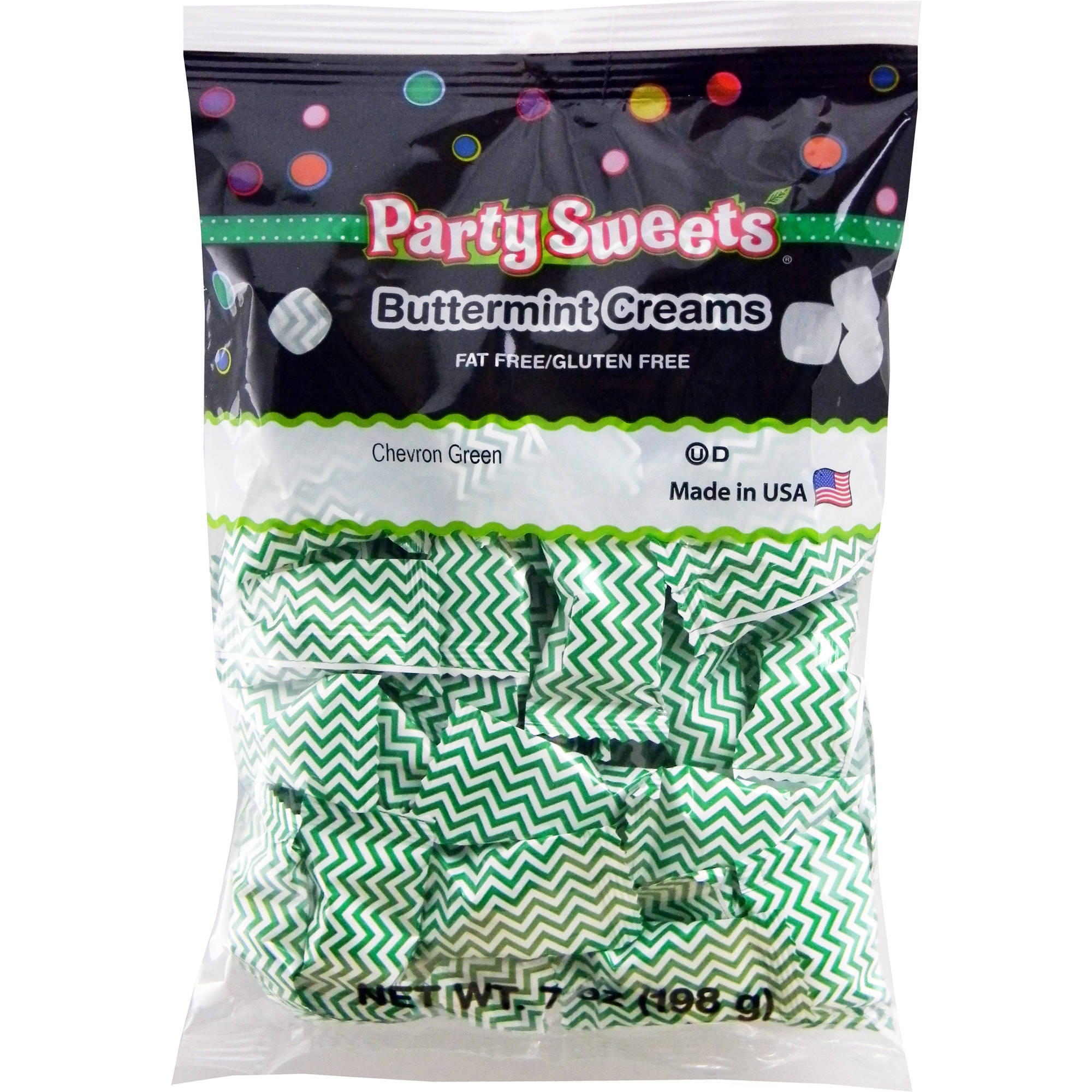 Party Sweets Chevron Green Buttermint Creams Candy, 7 oz