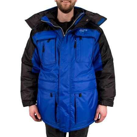 Freeze Defense Warm Men's 3in1 Winter Jacket Coat Parka & Vest (Small, Blue) Outer Edge Winter Coat