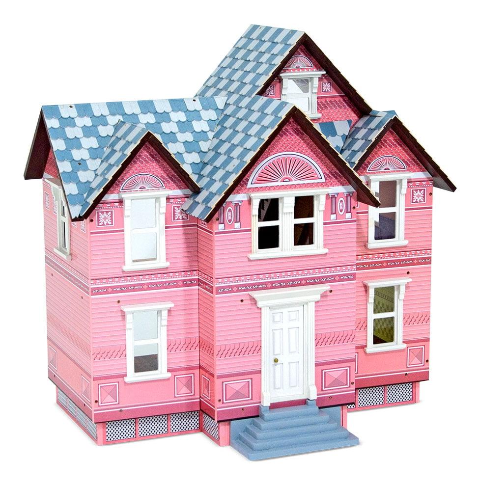 Melissa Doug Classic Heirloom Victorian Wooden Dollhouse Walmart Com