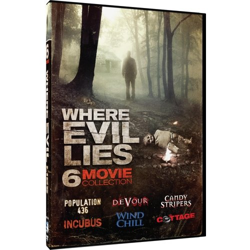 Where Evil Lies: Six Movie Collection - Devour / Population 436 / Candy Stripers / Incubus / Wind Chill / The Cottage