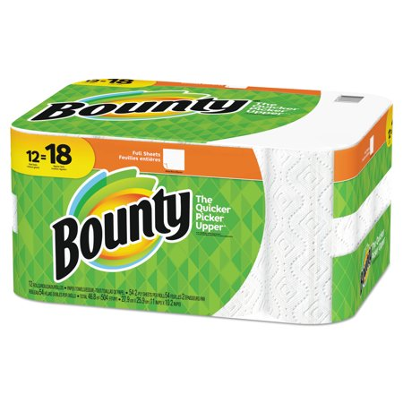 Procter & Gamble 95027 Paper Towels, 2-ply, White, 54 Sheets/roll, 12 - Bounty Towels