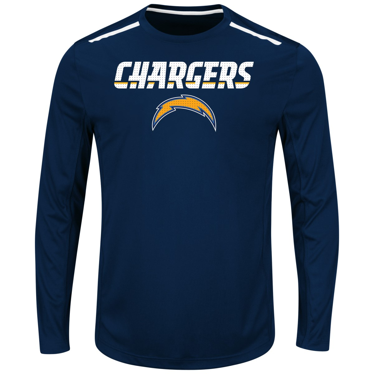 "San Diego Chargers Majestic NFL ""Fanfare IX"" Men's Cool Base L S Shirt by Majestic"