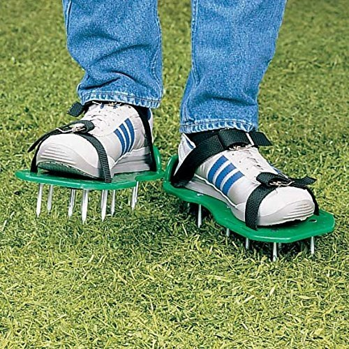 Wealers Green Spiked Lawn Aerator Foot Shoe Set