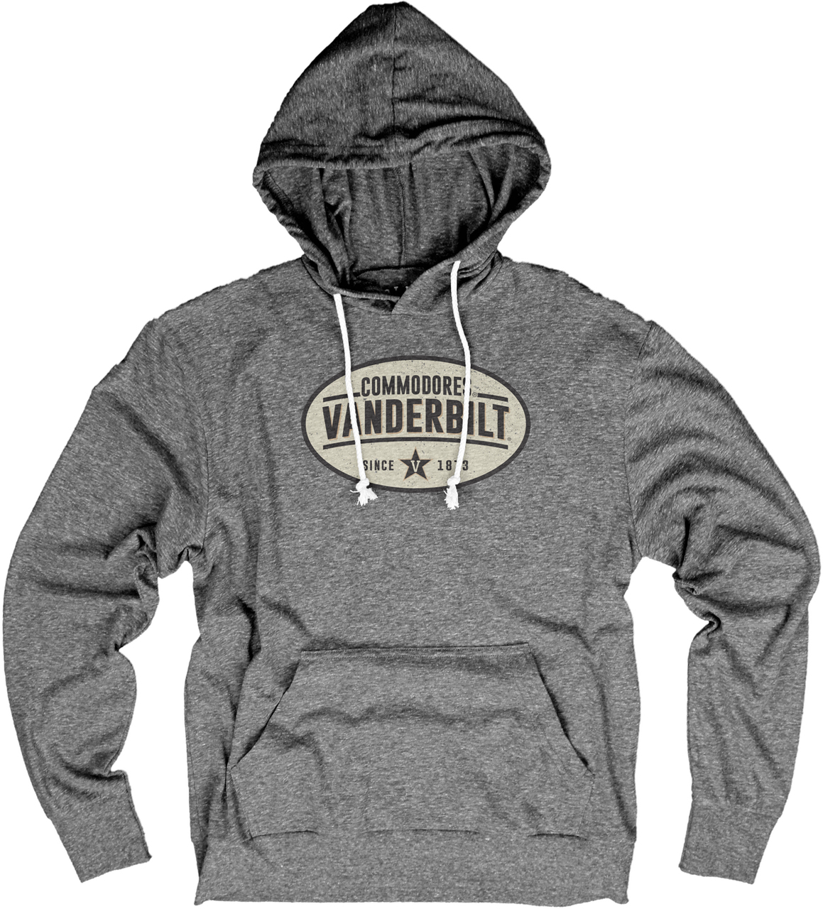 Vanderbilt Commodores Adult NCAA Cash Box Long Sleeve Hooded Pullover - Sport Gray