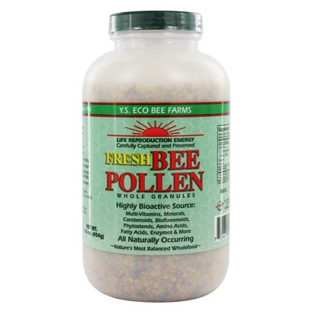 YS Organic Bee Farms - Fresh Bee Pollen Whole Granules - 16 oz. ()
