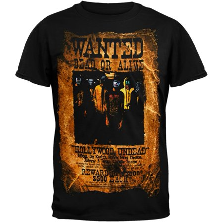 Hollywood Undead - Wanted Poster T-Shirt - Hollywood Undead Mask