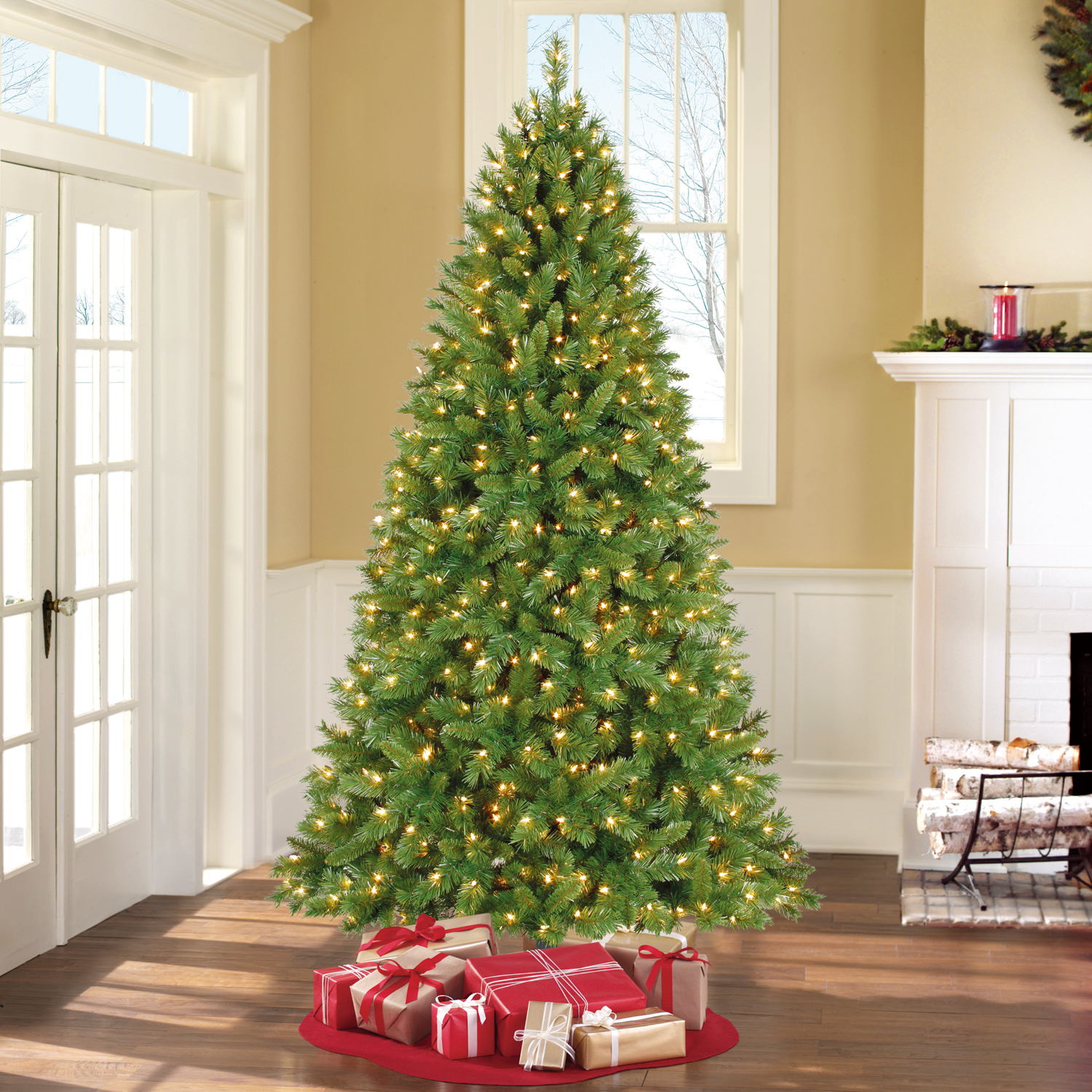 Holiday Time Pre-Lit 7.5\' Kennedy Fir Artificial Christmas Tree ...
