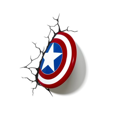 Marvel captain america shield 3d deco led wall light new hammer marvel captain america shield 3d deco led wall light new hammer shield night mount illusion mozeypictures