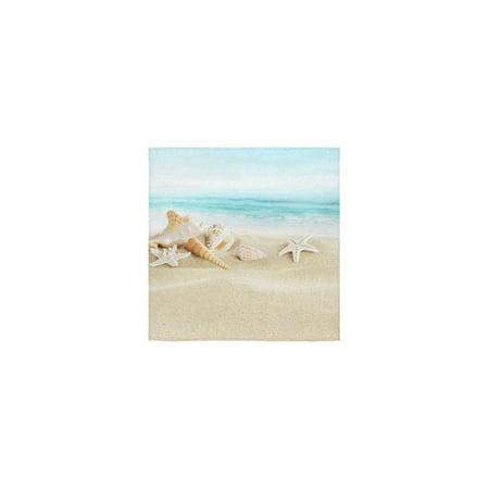 ZKGK Seashell Starfish Hawaii Summer Beach Sea Ocean Seascape Seaside Blue White Washcloth Dish Cloth Bath Towels For Bathroom Kitchen and Travel Use,13