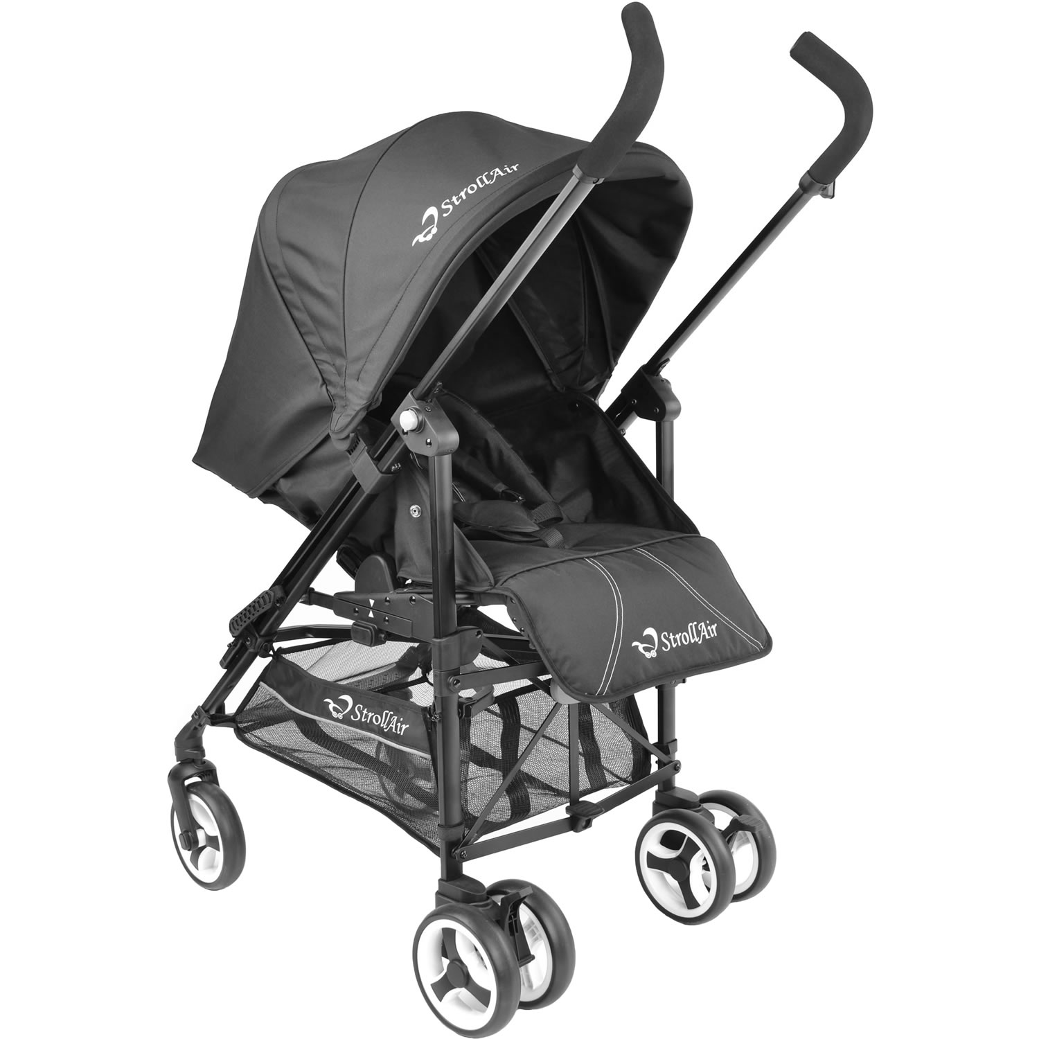 StrollAir ReVu Umbrella Stroller, Black by StrollAir