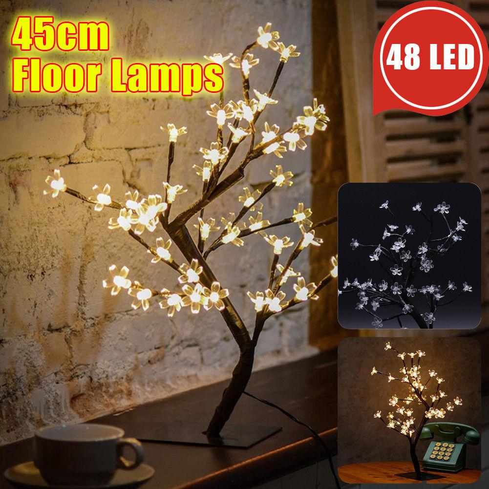 48led Cherry Blossom Bonsai Tree Chrismas Fairy Twig Lights Table