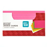 Pen + Gear Ruled Index Cards 3X5  200Ct Heavyweight 100 White and100 Neon