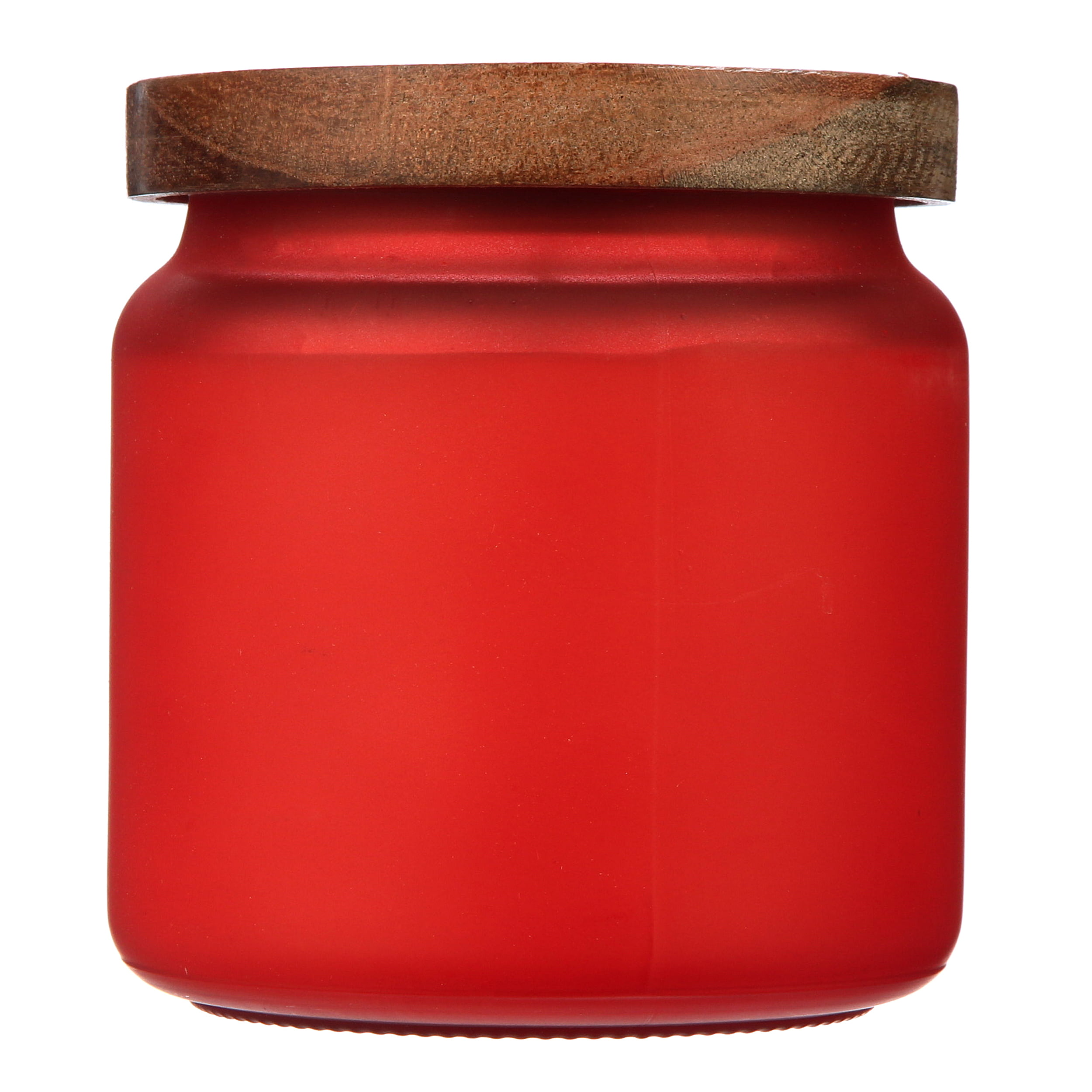 14 DAY RED UNSCENTED CANDLE IN GLASS