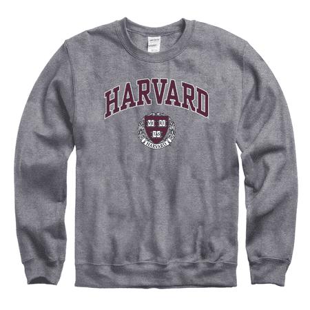 best various colors newest collection Harvard University Crew-Neck Men's Sweatshirt-Charcoal