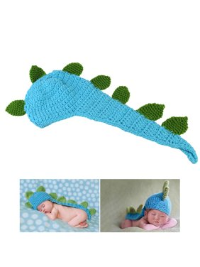 e7b1aa63b61 Product Image NUOLUX Cute Cartoon Dinosaur Style Baby Infant Newborn  Handmade Crochet Beanie Hat Clothes Baby Photograph Props