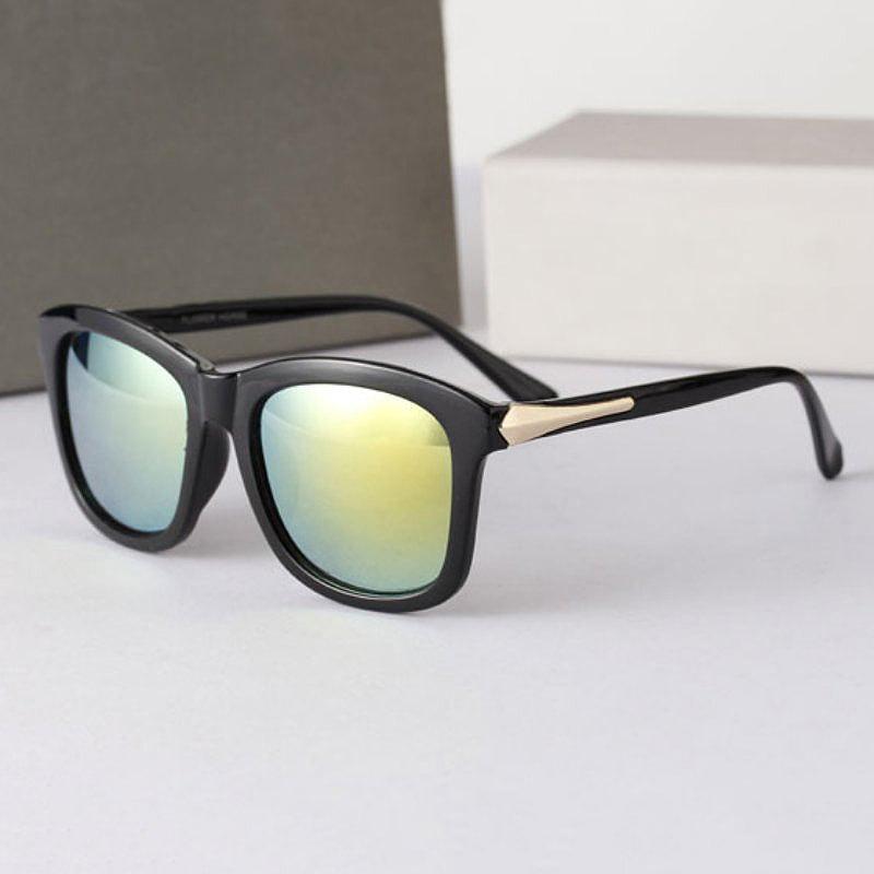Vintage Unisex Square Sunglasses Plastic Frame Eyeglasses Glasses 4 Colors