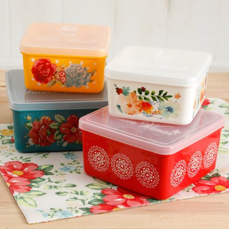 Pioneer Square Halloween (The Pioneer Woman Flea Market 4-Piece Square Food Container)