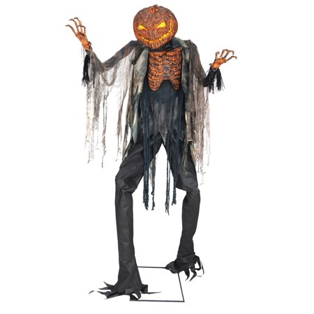 7ft. Scorched Scarecrow Animated NO FOG MACHINE Halloween Decoration](Animated Happy Halloween Pics)